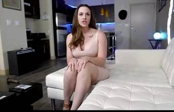 Beautiful busty MILF gets stretched out. Cum on face