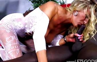 Blond MILF vs Black Cock
