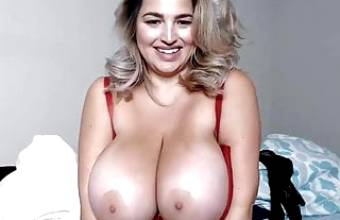 Blonde With Gigantic Tits On Cam (NAME PLEASE)