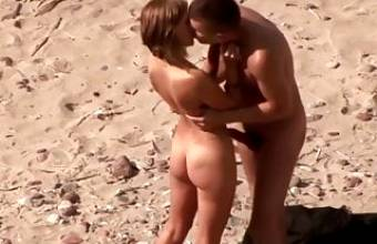 Couple Humping On The Beach