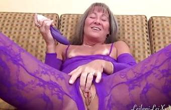 Crotchless Body Suit Masturbation