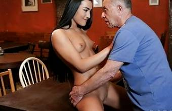DADDY4K. Alluring miss with hypnotizing body gets fucked by old guy