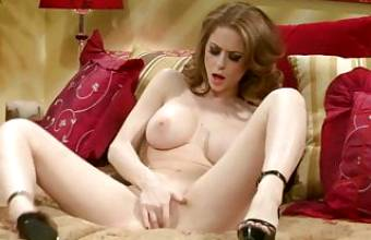 Emily Addison teases on Bed