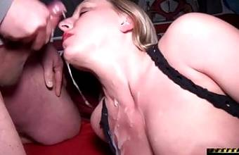 First Private Bukkake Party For a Teen Slut