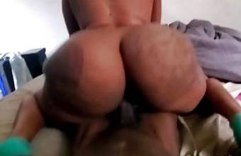 Fucking her from behind while she squirted on the camera