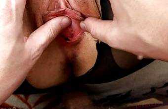 He tore tights, I got a pussy close up and fingering- SanyAny