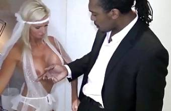 HORNY AND BUSTY BRIDE CHEATING ON HUSBAND WITH A BBC