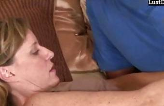 Horny busty amateur Mom & Young Son Fucking