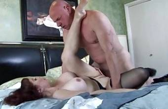 Horny mommy loves to suck and ride