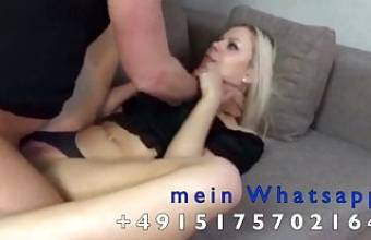 Horny sex addicted blond girl squirts