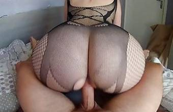 I fuck my hot stepsister's big ass in a sexy bodysuit!