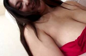 Japanese BBW amateur – hairy pussy and creampie – big boobs