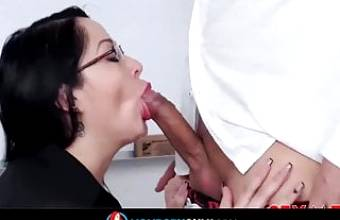 Latina Milf teacher fucks with her student