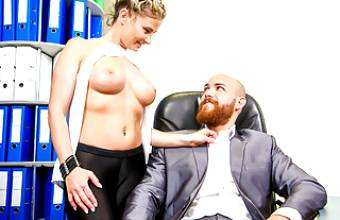 LETSDOEIT – Hot Office Fuck with Busty German Secretary