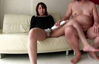 MILF from japan – amateurs – hitachi and hairy pussy