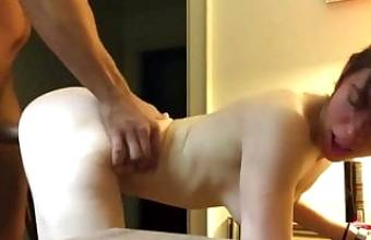 my young stepsister loves to fuck my dick hard on the table