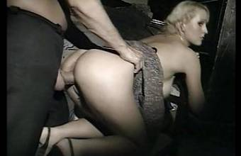Not so happy blonde gets assfucked