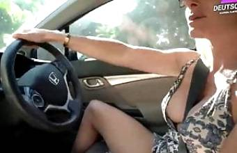 Nude Car Ride Und Hotel Blowjob