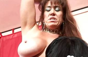 Old muff and a younger babe have fun.mp4