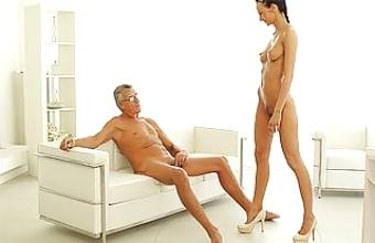 OLD4K. Hot sex is how old boss and his worker relax after…