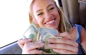 Petite Blonde Teen Fucked By Stranger Outdoors For Cash POV