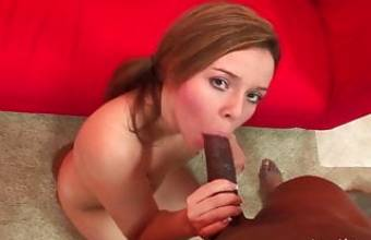 Pretty amateur girl sucking and riding his BBC