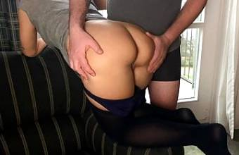 Relaxed fuck at hotel window in pantyhose – projectsexdiary