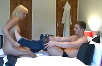ROLEPLAY- British Mom Fucks Her Stepson in Hotel