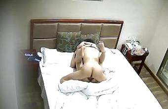 Spy camera voyeur college girl fucking and getting creampie