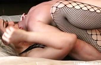 Thick asian girl gets fucked hard by a big dick