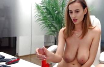 Very Hot MILF show her big boobs and pussy on webcam