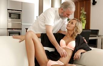 VIP4K. Lovers spend the whole day performing old and young sex