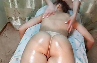 Young virgin have fun at the massage