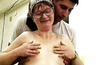 83 year old granny rough fucked