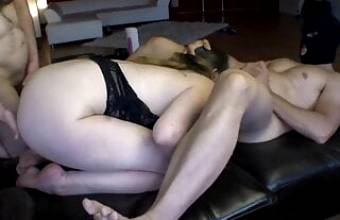 Amateur Submissive Milf Has Squirting Orgasms – Gangbang With Laz Ali
