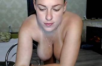 amazing firm boobs on the young cam girl