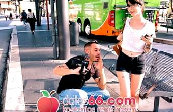 AndyStar fucks naughty Lou Nesbit in public. Dates66.com