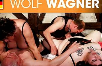 BBW and friends switch partners for a fuck! Wolfwagner.com