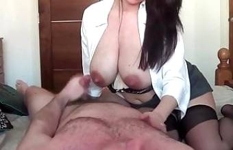 Blowjob and facial for busty Finnish mom from huoria.eu