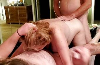 Busty MILF Wife Allows Son's friend to Fuck Her