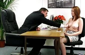 Candi B giving head in black FF stockings