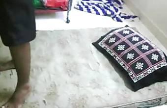 Desi Randi Bhabhi In Hostel With Client