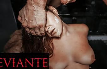 DEVIANTE – Brunette With Big Tits Confesses Then Has Rough Fuck