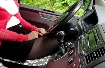 driving student on heels seduces instructor -projectsexdiary