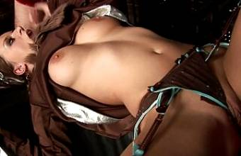 Dude fucks a cute Indian babe in his dungeon