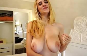 Eli Tetona, Latina with large natural boobs, upscaled to 4K