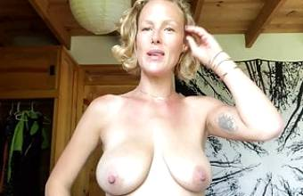 Exposed Yoga Slut Shares Her Large Tits and Beautiful Pussy