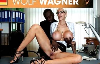 Filthy secretary craves for the boss' cock! wolfwagner.com