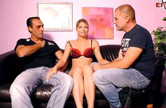 GERMAN GIRLFRIEND'S FIRST THREESOME SURPRISE CASTING
