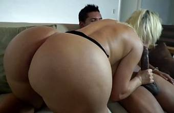 Giant Booty PAWG gets huge cumshot on asshole